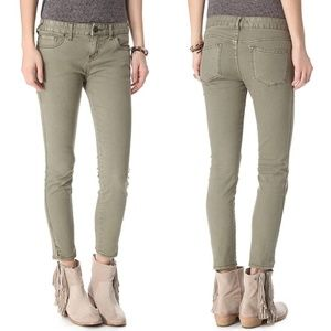 Free People Sand Colored Skinny Jeans